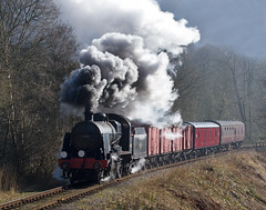 SR 'U' class 2-6-0 No. 31806 (norman-bates) Tags: smoke steam locomotive uboat staffordshire sr exhaust maunsell southernrailway steamlocomotive midhantsrailway churnetvalleyrailway churnetvalley 31806 uclass