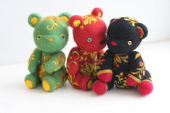 felted bears in the Russian style (Lelilio) Tags: bear wool felted toys teddy style needle russian lelilio