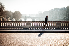 (Jordy B) Tags: bridge man paris france seine river pont homme fleuve bestofr