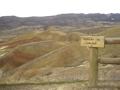 Proceed no further (ideath) Tags: sign oregon paintedhills johnday proceednofurther