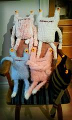 Mom's soft cutgly (cute but ugly) dolls (guiltyx) Tags: knit knitteddolls pillowmonsters flickrandroidapp:filter=berlin