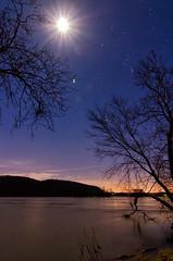 Moon River - Explored (Michael Kline) Tags: moon river va nightsky february newriver 2013