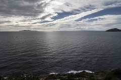 View from Cape Sounio (greekadman) Tags: sea sky clouds island view greece sounion wintersea greekisland