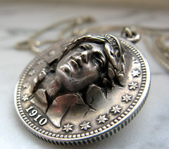 Antique Coin (StayFocused2) Tags: woman face canon silver coin antique powershot 1910 a70 odc