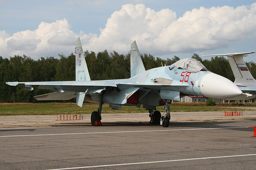Sukhoi Su-27SM-3 Flanker '58 red'