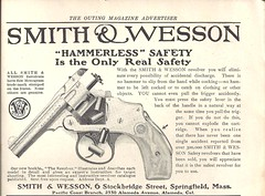 Smith & Wesson Ad - 1907 (ilgunmkr) Tags: 1907 smithwesson theoutingmagazine safetyhammerless