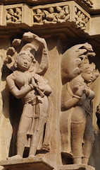 Khajuraho (nicnac1000) Tags: sculpture india statue stone temple vishnu indian carving unescoworldheritagesite unesco worldheritagesite mp hindu khajuraho madhyapradesh chattarpur lakshmana bundelkhand 10thcentury northindian chhatarpur 10thcenturyce chandela 10thcenturyad yashovarman 950ad 10century india2013 vaikunthavishnu
