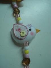 Detalhe do Passarinho do móbile de cortina da Julia (tatiane_zoo) Tags: bebê feltro patchwork corujas tecido