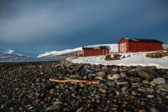Norway (Gatria) Tags: house mountain snow beach norway strand canon iii skandinavien norwegen haus ii l 5d 28 scandinavia ef mk tromso 2470mm