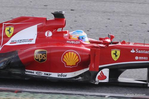 Fernando Alonso in his Ferrari at Formula One Winter Testing, 3rd March 2013