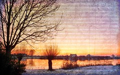it's a musical wednesday! (Adrinne - for a peace-loving world! -) Tags: textured beforesunrise terneuzen reflectionsofmylife winterinthenetherlands otheensekreek temari09