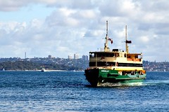 The Sydney-Manly Ferry (Peter Denton) Tags: sea green ferry ship harbour manly sydney australia vessel nsw newsouthwales publictransport canoneos60d peterdenton