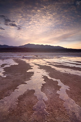 Trickle (Joshua Cripps) Tags: sky reflection sunrise mackerel tokina1224 saltflats deathvalleynationalpark indurotripod leegndfilters nikond7000 acratechballhead