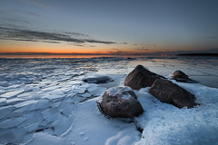 Winter light (- David Olsson -) Tags: winter sunset lake snow cold ice nature landscape march frozen nikon rocks sundown sweden outdoor freezing fx shattered shards slippery vnern d800 hammar vrmland floes thelastlight 2013 1424 2exposures manualblend flickroid 1424mm takene manuallyblended davidolsson hammarsydspets