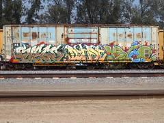 FUEGO/DEHSE/RVEE (BGIZ) Tags: art graffiti trains law fuego sluts sfe knd dehse
