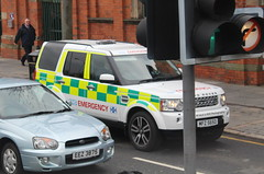 NHS / MFZ 5650 / Land Rover Discovery 4 / Scottish Organ Retrieval Team (Nick 999) Tags: blue lights team 4 rover belfast ambulance led special nhs unknown land vehicle leds operations paramedics emergency discovery purpose response sirens lightbar 5650 mfz