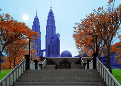 [INFRARED] Path to success (mozakim) Tags: blue red building green tower colors architecture stairs landscape islam petronas twin mosque infrared kualalumpur klcc islamic maxis