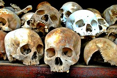 Khmer Rouge Skull (Nick Ahlm) Tags: history skull cambodia remember sad knowledge bone genocide khmerrouge ethnicclensing