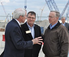Commissioner Ostendorff with Officials After a Tour of the Vogtle New Construction Site (NRCgov) Tags: commission nuclearregulatorycommission vogtle newreactors newreactorconstruction