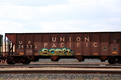 (o texano) Tags: bench graffiti texas trains taylor freights benching scor