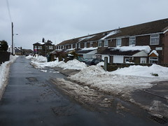 Mill Lane (The Chairman 8) Tags: road houses mountain snow cars buildings milllane queensbury
