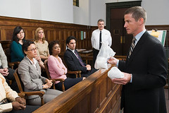 A lawyer and the jury (attorneyutah2) Tags: woman man male female holding sitting looking indoors listening crime plasticbag northamerica africanamericans law courthouse evidence youngadult facetoface lawyer youngwoman maturewoman youngman decision juror courtroom policeofficer midadult midadultman midadultwoman imagesource caucasians americanculture legalsystem matureadult matureman hispanicethnicity jurybox chineseethnicity mediumgroupofpeople recreationaldrug 24939188