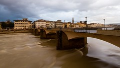 Arno (Matthew Kenwrick) Tags: bridge italy holiday water clouds buildings river florence cloudy wide tuscany firenze arno 1022mm muddy eos7d