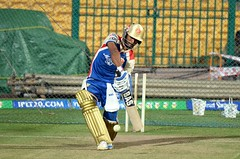 Vijay Zol during batting practice