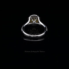 1.39ct Fancy Lemon Yellow center diamond and 0.90ct of white diamond micro Pave set in Platinum Back. (Ilia1968) Tags: yellow engagement ring diamond micro fancy russian ltd ilia pave jewellers intence chokourov