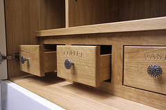 "Solid Oak Dovetail Spice drawers • <a style=""font-size:0.8em;"" href=""http://www.flickr.com/photos/94901173@N08/8636709227/"" target=""_blank"">View on Flickr</a>"