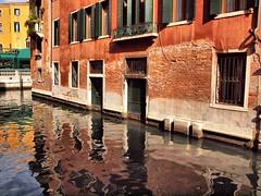Venice Bricks work 8th Oct 2012 (saxonfenken) Tags: city venice italy orange reflection canal waterway brickwork 7006 challengeyou madeofbricks thechallengefactory pregamewinner gamesweepwinner 7006city