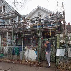 Giovanni's House (metroblossom) Tags: house newyork building art rain fog buildings grey buffalo folk gray rainy upstatenewyork residential giovanni westernnewyork img461621