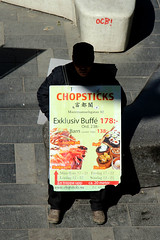 Chopsticks (josephzohn | flickr) Tags: people fromabove reklam sergelgatan sandwichman mnniskor