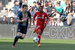 Sebastien Le Toux pushing forward (Paul Rudderow- Jersey Shooter) Tags: psp pennsylvania soccer chester mls torontofc sonsofben rudderow 31313 sebastienletoux philadelphiaunion pplpark phillysoccerpagenet