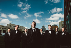 All The King's Men (Sean Molin Photography) Tags: wedding sky men skyline clouds outdoors groom married indianapolis indy indiana wideangle bluesky tuxedo april groomsmen d800 superwideangle brenizer 19mm ultrawideangle jwmarriott naptown indianastatehouse ryanbrenizer 2013 strobist sb900 kisselwedding nikond800 wwwseanmolincom flashcomposite sarahkissel briankissel nikonafsnikkor1424mmf28g lumiquestltpsoftbox seanmolinphotography sarahesarey