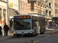 mercedes citaro (dav.munro) Tags: street bus public buses one mercedes 1 switzerland geneva transport first driver service passenger artic tpg 191 bendy genevois citaro bendie petitbelair