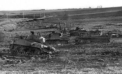 Tank Graveyard (Krueger Waffen) Tags: war tank wwii armor ww2 panther armour armored wrecked waffenss m4 tanks markv panzer secondworldwar afv worldwartwo armoredvehicle armoured armoredcar wehrmacht m4a1 shermantank sdkfz pzkpfw panthertank m4a3 pzkpfwv pzv secondworldwartanks worldwartwotanks tanksofthesecondworldwar