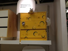 IKEA cheese dresser, customized (Vilseskogen) Tags: new white black color ikea cheese mouse design funny furniture interior creative nj commons jersey dresser vilseskogen