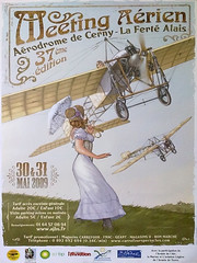 2009 Fly in Poster.   22 04 13 (Tonimacphee) Tags: art poster fly aviation aeroplane advert toni artdeco deco 1920 airfield aerodrome bleriot monoplane macphee tonimacphee