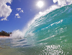 plunging lip (bluewavechris) Tags: ocean park sea fall beach water face canon hawaii sand surf wave maui spray fisheye lip curl swell 815 makena bigbeach cmtwaterhousing