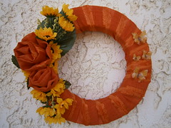 Fabric Wrapped Wreath (creationmood (maria's)) Tags: wrapped wreath fabric