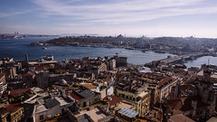 Istanbul | Golden Horn From Galata Tower (wazari) Tags: city travel art history classic architecture photoshop vintage turkey photography ancient asia europe european place artistic ataturk minaret islam faith religion culture istanbul mosque retro photograph adobe journey dome destination historical ottoman taksim middleages secular turkish byzantine bosphorus masjid asean cultural turk sultanahmet traveler galata constantinople islamicart travelphotography galatatower stamboul travelphotographer wazari senibina wazariwazir