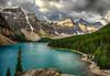 The Rockpile View (Jeff Clow) Tags: lake water landscape bravo albertacanada banffnationalpark morainelake canadianrockies glacialsilt tpslandscape