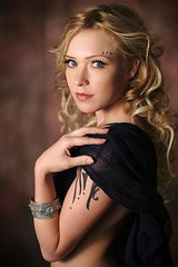 Mona (gestiefeltekatze) Tags: beauty tattoo model glamour eyes elf fantasy blonde elven