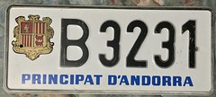 ANDORRA 2000's NON-REFLECTIVELICENSE PLATE (woody1778a) Tags: andorra principality europe europa utility mycollection myhobby alpca1778 licenseplate numberplate registrationplate worldplates