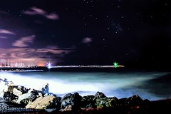 Cecina ( Li ) (IBG_Hott) Tags: longexposure sea night canon star 1100d
