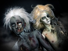 They come from the shadow (Sadomina) Tags: doll bjd abjd balljointeddoll ringdoll sadomina zombie horror gore undead creepy halloween corpse ghosts