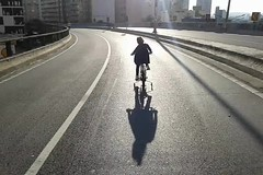 Let's go dear. The end of Sunday.The sound of the bicycle wheels. (Marcos Jerlich) Tags: movie saopaulo street brazil sunday weekend