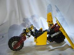 Maari 8 (quartzroolz) Tags: bionicle agori quartz roolz bike biker bikerbabe system mixel island rpg mocpages
