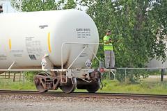 Huron & Eastern in Durand: 6 (craigsanders429) Tags: huroneasternrailway shortlinerailroads michigan michiganrailroads railroaders tankcars durandmichigan